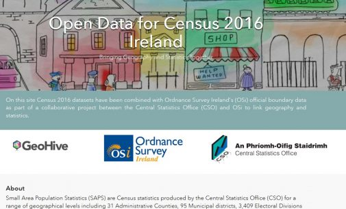OSi and CSO launch new Census website on Esri Ireland's digital mapping platform