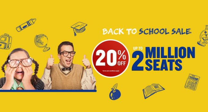 Ryanair back to school seat sale