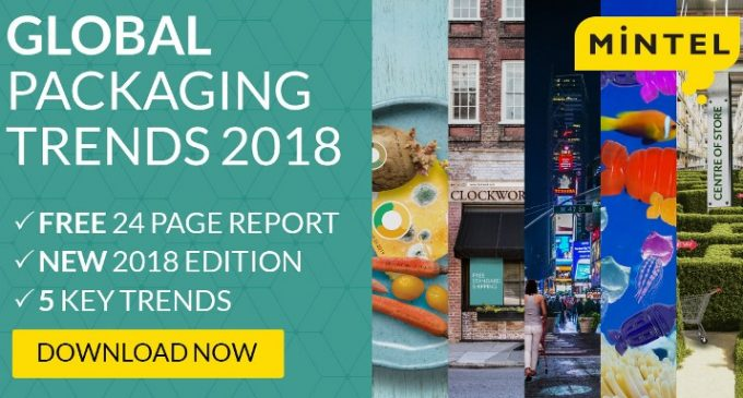 Mintel Announces Five Global Packaging Trends For 2018