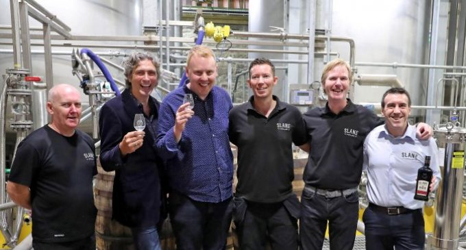Slane Distillery Rolls Out First Barrel