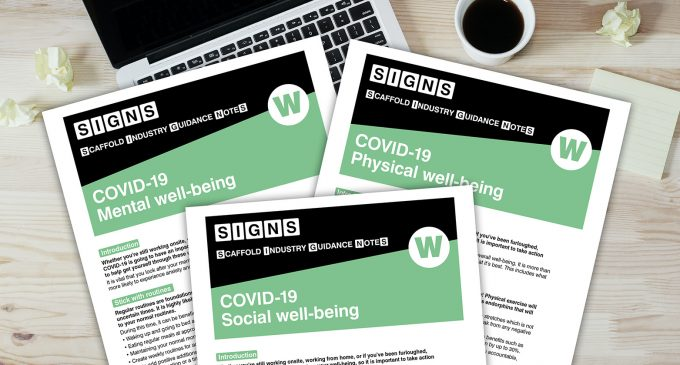 The Scaffolding Association announces the launch of its COVID-19 Wellbeing Guidance Notes