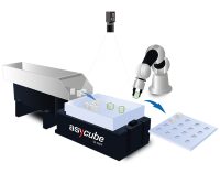 EYE+ the new Intelligent Control System that manages the  Asycube, hopper, vision and robot