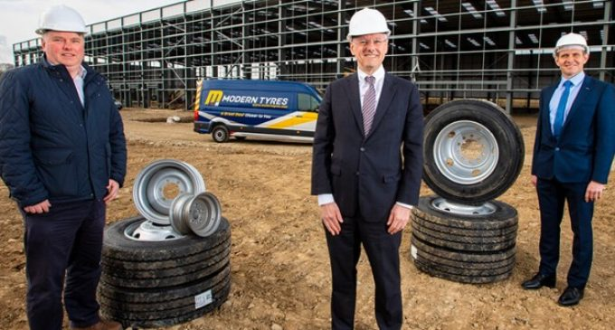 Modern Tyres to invest £5.6 million and create 23 jobs at new Newry manufacturing facility